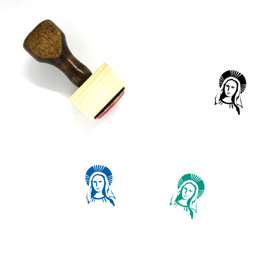Mary Wooden Rubber Stamp No. 4