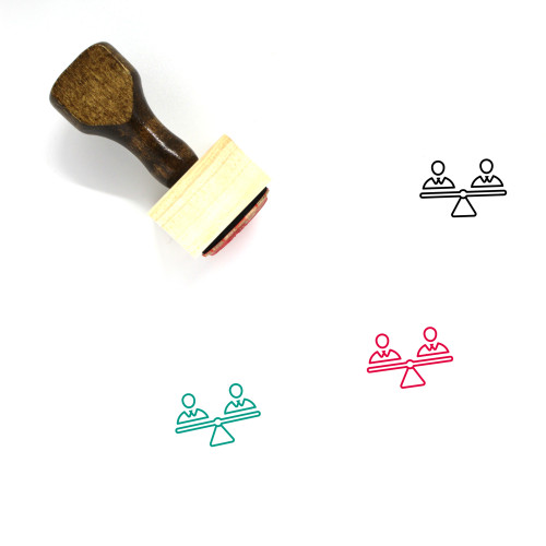 Human Rights Wooden Rubber Stamp No. 4