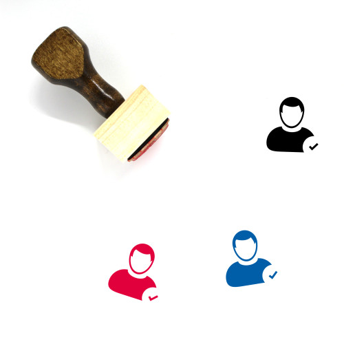Accept User Wooden Rubber Stamp No. 1