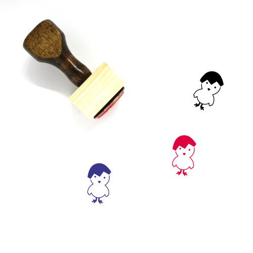 Chick Wooden Rubber Stamp No. 128