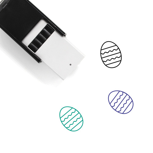 Easter Egg Self-Inking Rubber Stamp No. 662