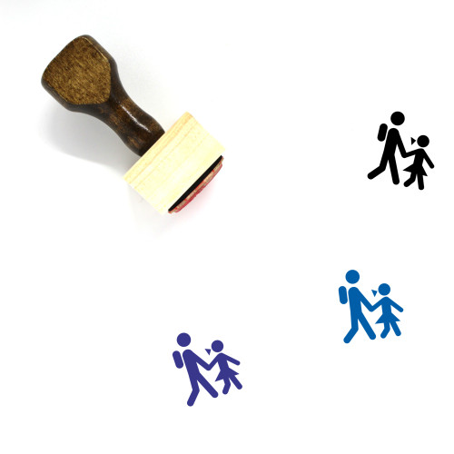 Students Wooden Rubber Stamp No. 24