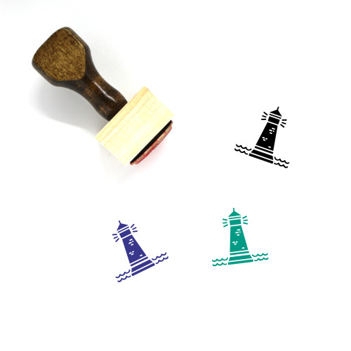 Lighthouse Wooden Rubber Stamp No. 96