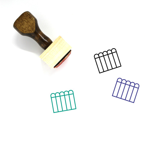 Fence Wooden Rubber Stamp No. 13