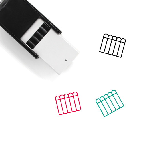 Fence Self-Inking Rubber Stamp No. 13