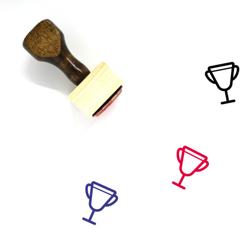 Trophy Wooden Rubber Stamp No. 318