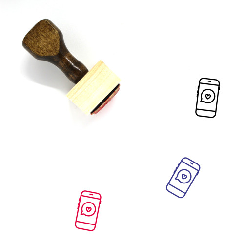 Love Message Wooden Rubber Stamp No. 87