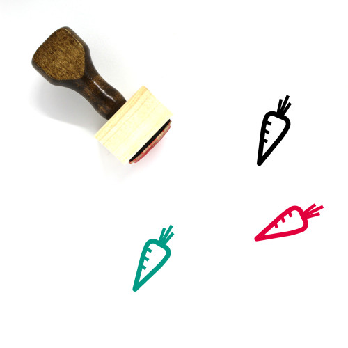 Carrot Wooden Rubber Stamp No. 13