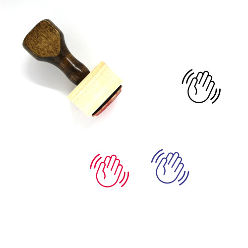 Wave Wooden Rubber Stamp No. 20
