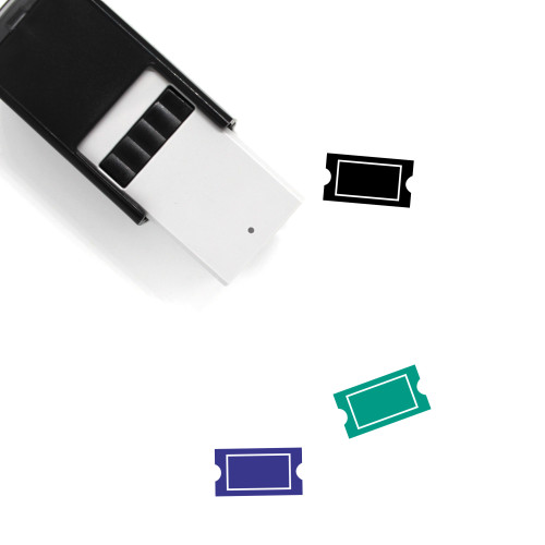 Ticket Self-Inking Rubber Stamp No. 118