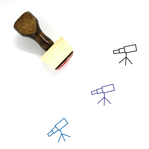 Telescope Wooden Rubber Stamp No. 35
