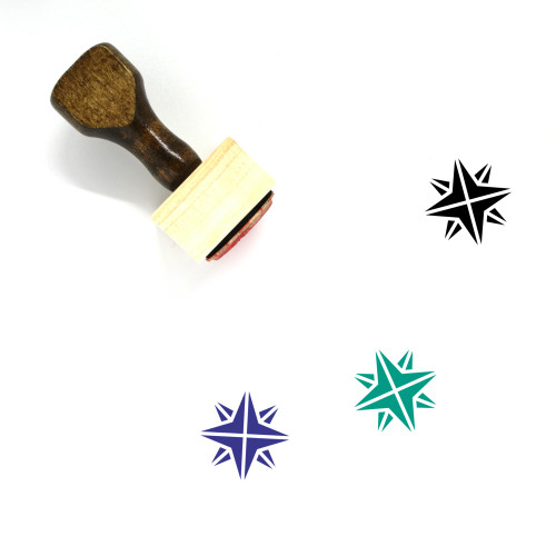 Star Wooden Rubber Stamp No. 83