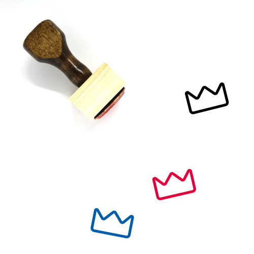 Crown Wooden Rubber Stamp No. 28