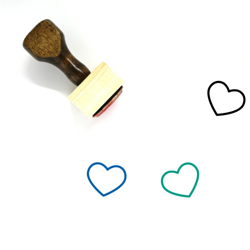 Heart Wooden Rubber Stamp No. 142