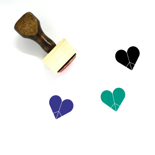 Heart Wooden Rubber Stamp No. 146