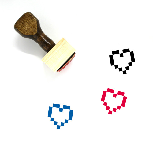Heart Wooden Rubber Stamp No. 147