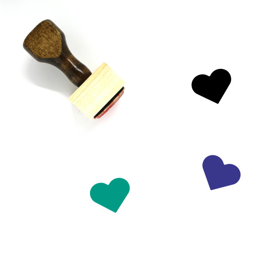 Heart Wooden Rubber Stamp No. 155