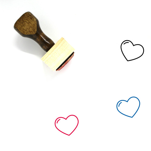 Heart Wooden Rubber Stamp No. 164