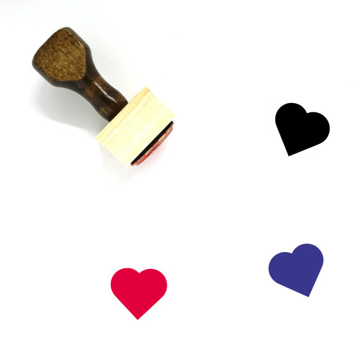 Heart Wooden Rubber Stamp No. 178