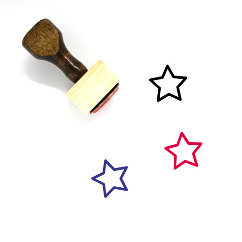 Star Wooden Rubber Stamp No. 117