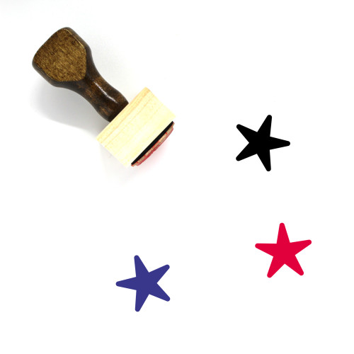 Star Wooden Rubber Stamp No. 234