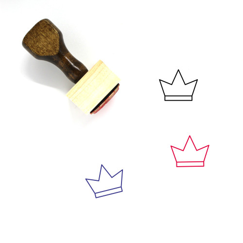 Crown Wooden Rubber Stamp No. 234