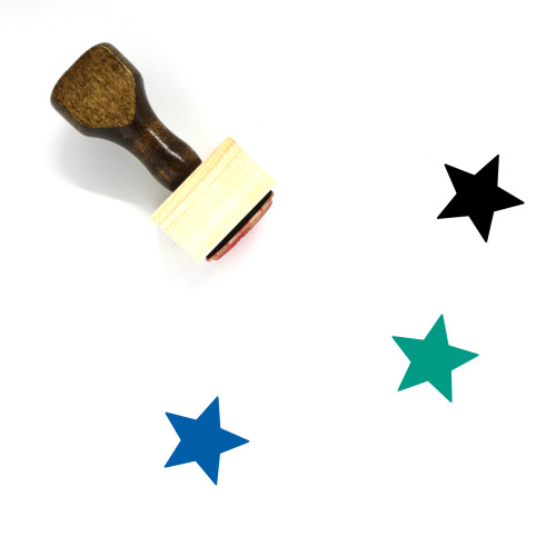 Star Wooden Rubber Stamp No. 264