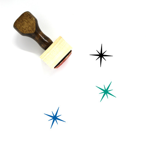 Star Wooden Rubber Stamp No. 290