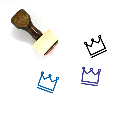 Crown Wooden Rubber Stamp No. 332