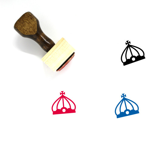 Crown Wooden Rubber Stamp No. 342