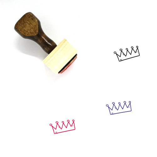 Crown Wooden Rubber Stamp No. 498