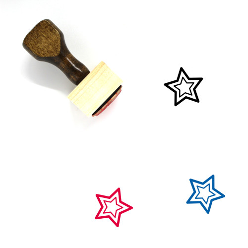 Star Wooden Rubber Stamp No. 401