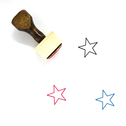 Star Wooden Rubber Stamp No. 453