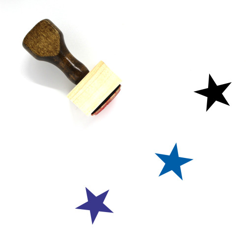 Star Wooden Rubber Stamp No. 507