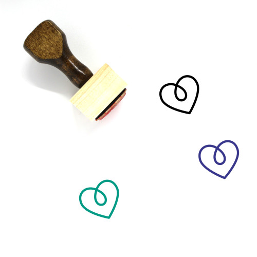 Heart Wooden Rubber Stamp No. 247