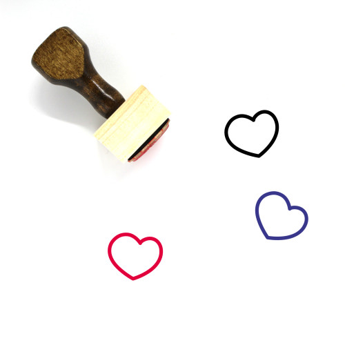 Heart Wooden Rubber Stamp No. 267