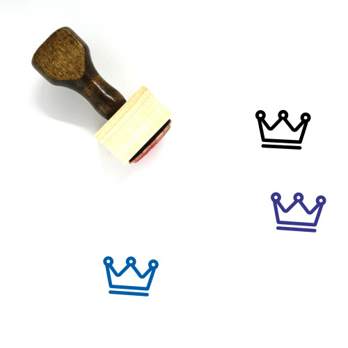 Crown Wooden Rubber Stamp No. 935