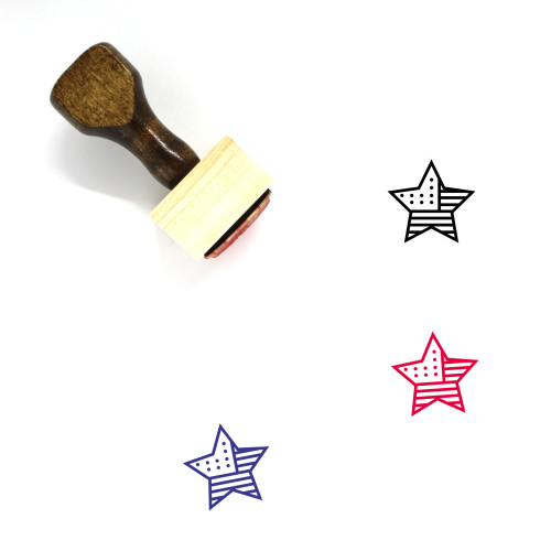 Star Wooden Rubber Stamp No. 593