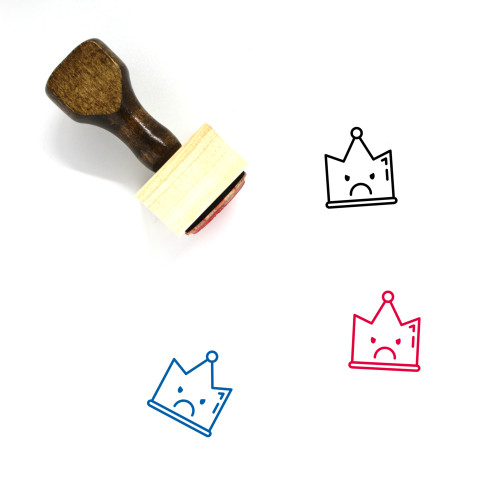 Crown Wooden Rubber Stamp No. 956