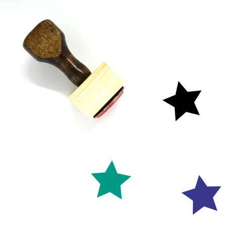 Star Wooden Rubber Stamp No. 622