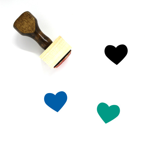 Heart Wooden Rubber Stamp No. 305