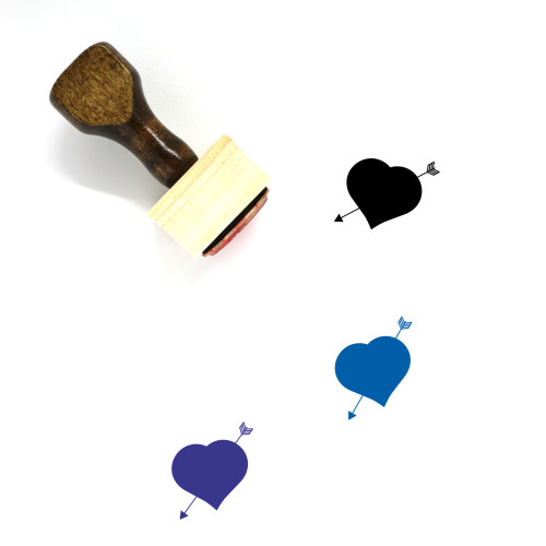 Heart Wooden Rubber Stamp No. 365
