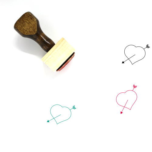 Heart Wooden Rubber Stamp No. 366