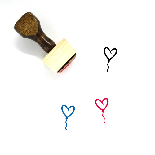 Heart Wooden Rubber Stamp No. 379