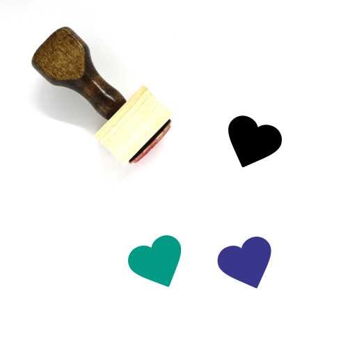 Heart Wooden Rubber Stamp No. 399