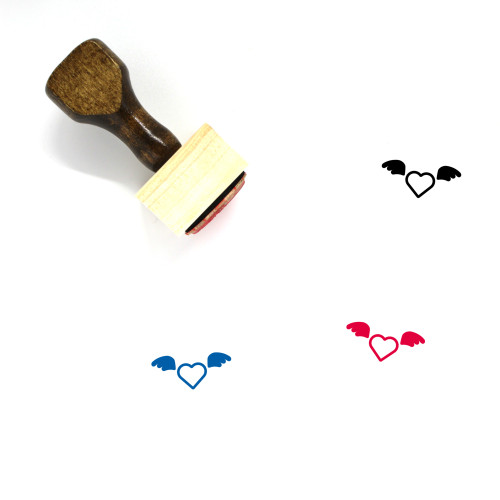 Heart Wooden Rubber Stamp No. 641