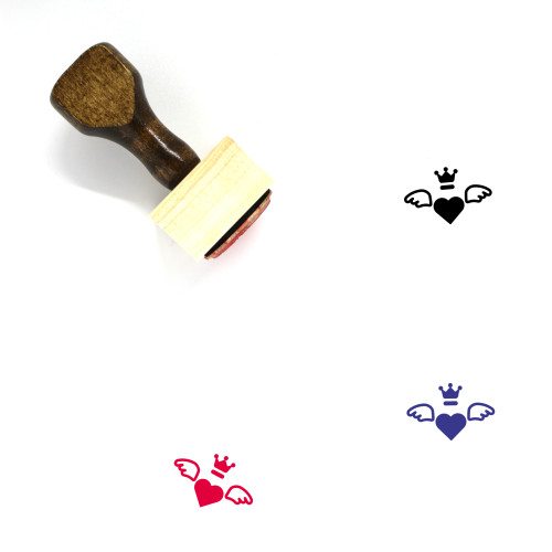 Heart Wooden Rubber Stamp No. 664