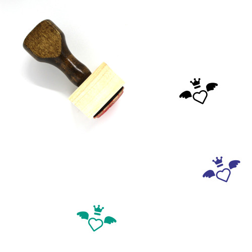 Heart Wooden Rubber Stamp No. 666