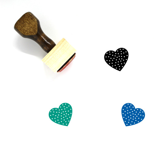 Heart Wooden Rubber Stamp No. 847