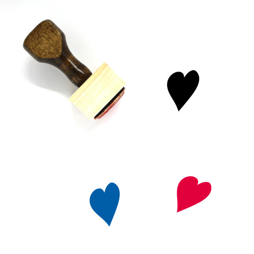 Heart Wooden Rubber Stamp No. 921